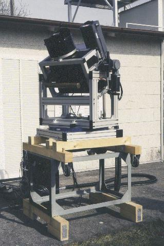 The lidar in its original configuration (photograph from W. Carnuth, 1995)